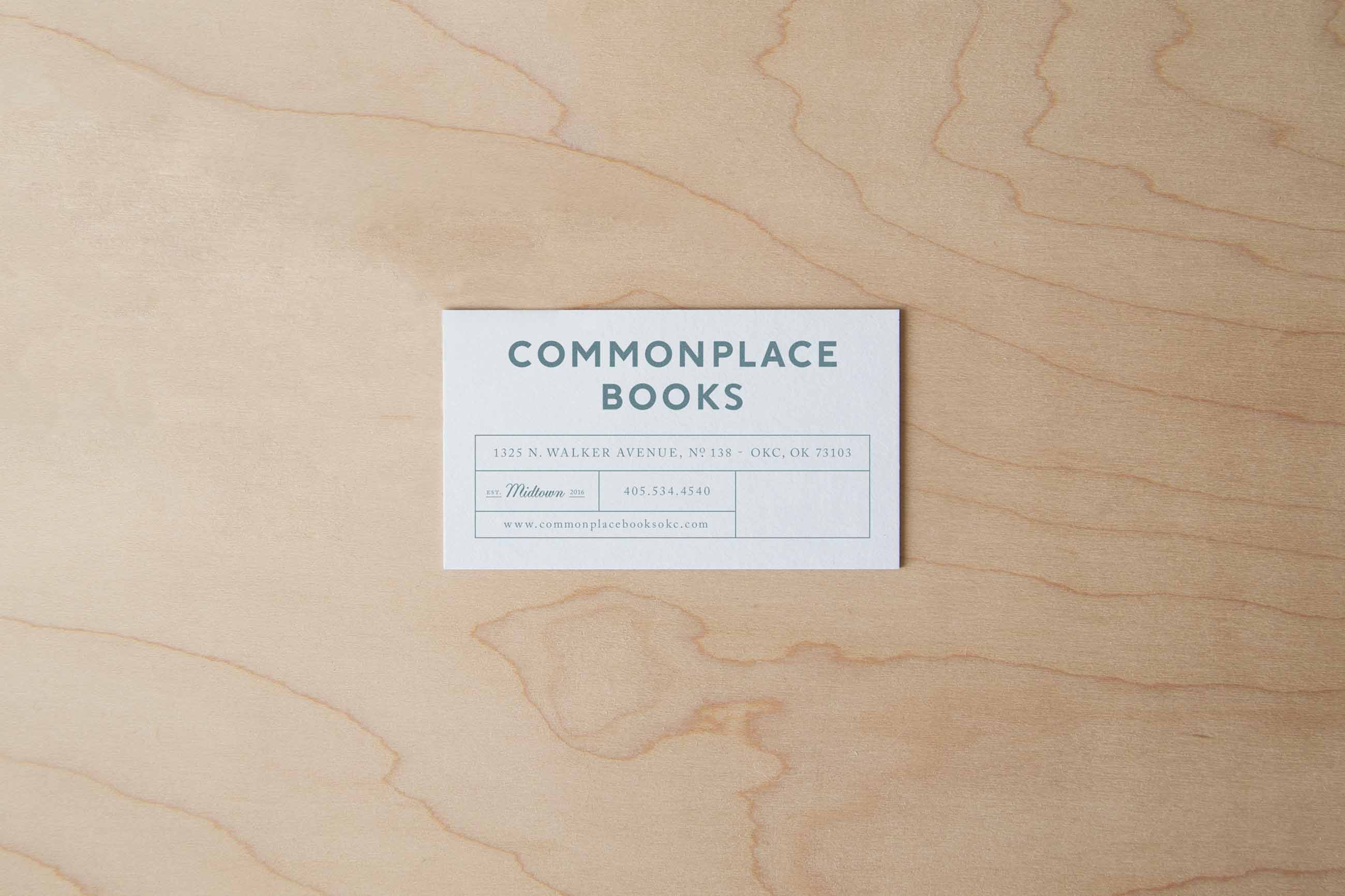 CPB CommonplaceBooks BusinessCards