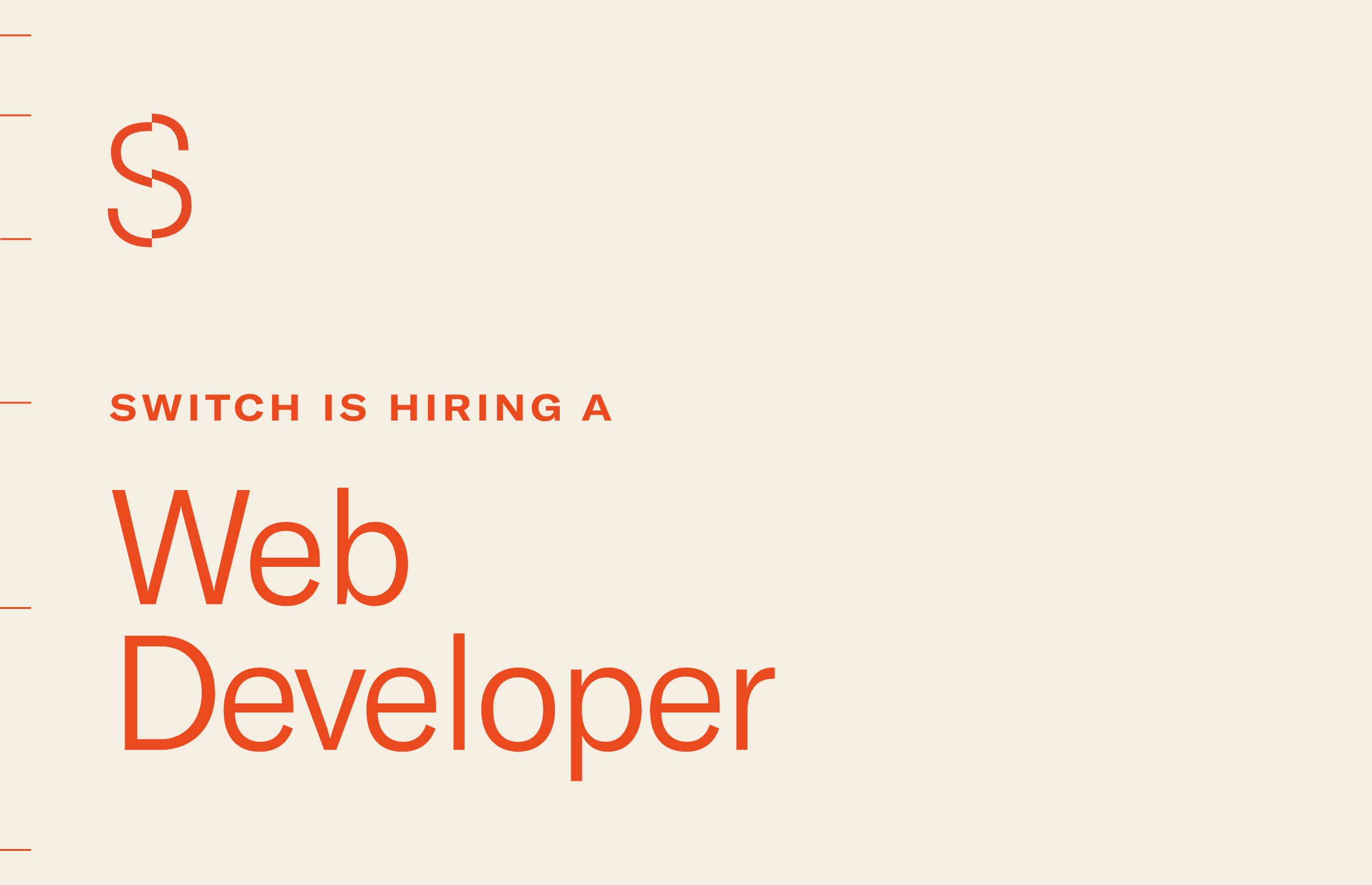 Switch is Hiring a Web Developer